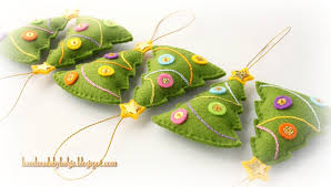 handmade by helga felt tree ornaments