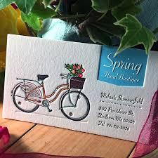 Bicycle Business Cards Spring Floral Card Jukeboxprint Com