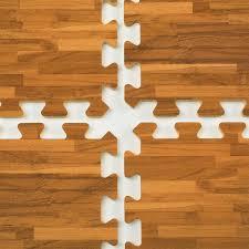 10 x 10 interlocking floor mats tiles w wood grain look