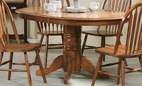 Pedestal Tables And Chairs Solid Oak Pedestal Table Dining Room