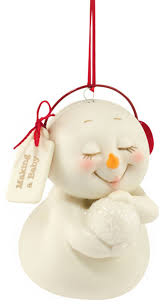 department 56 snowpinions a baby ornament contemporary
