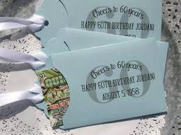 60th birthday party favors birthday favors and izzie designs