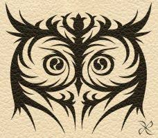 celestial owl and moon tribal design by wildspiritwolf on deviantart