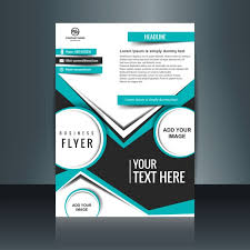 design flyer business flyer design with flat shapes vector free