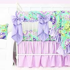 Purple And Aqua Crib Bedding Baby Crib Bedding Caden