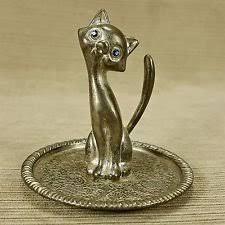 silver cat ring holder images Vintage ep zinc alloy silver kitty cat ring holder 35 figurine