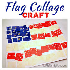 little family fun american flag collage craft