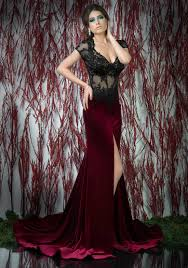 burgundy dress for wedding burgundy sheer corset formal evening dress sleeve appliques