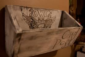 owl post mail holder wall hanging harry potter home decor