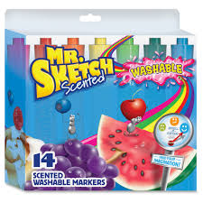 mr sketch scented washable markers chisel marker point style