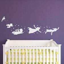 tinkerbell decals etsy peter pan children flying silhouette fantasy fairytale magic tinkerbell wall decal neverland nursery baby kids bedding
