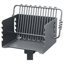 pilot rock steel park style backyard charcoal grill u2014 16 1 4in l x
