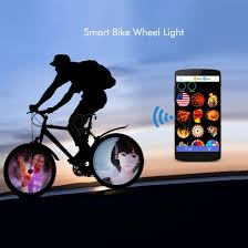 bike app android smart bike wheel lights 144 color with android app wl17s cool