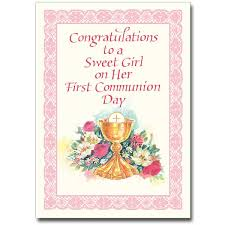 gifts for confirmation girl congratulations to a sweet girl communion card girl