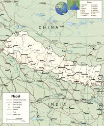 Map Of Asia With Capitals by Nepal Map Capital Kathmandu Mount Everest Himalayas