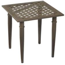 Metal Patio Side Table Outdoor Side Tables Patio Tables The Home Depot