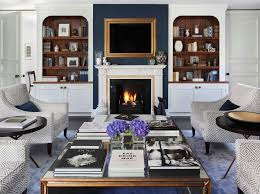 navy blue accent wall traditional living room oliver burns