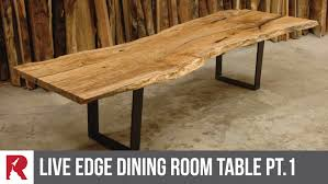live edge outdoor table making a live edge dining table part 1 rocket design furniture