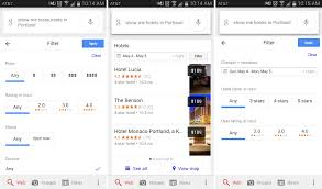 filters for android brings hotel and restaurant filters to search on