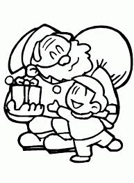 elf and santa coloring page christmas coloring pages of