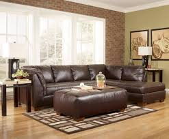 sofa sectional with chaise living room brown leather microfiber
