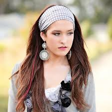 thick headbands and white houndstooth thick headband