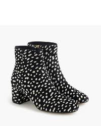 J Crew Ankle Boots J Crew Side Zip Ankle Boots In Leopard Calf Hair Where To Buy