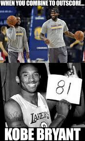 Kobe Bryant Memes - rt nbamemes kyrie irving lebron james 82 kobe bryant 81