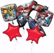 optimus prime birthday party transformers optimus prime balloons bouquet birthday party