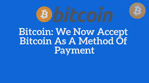 Istikbal Wiki Bitcoin We Now Accept Bitcoin As A Method Of Payment Multiplumb