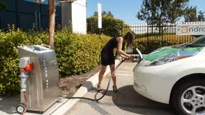 nissan leaf fast charger cheesiest dc fast charging video ever tight dress high heels