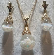 opal earring necklace set images Floating opal pendant and earrings set jpg