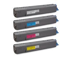 Toner Oki okidata c830 toner cartridges set 4 color pack compatible