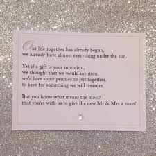 wedding gift honeymoon fund wedding invitations poems