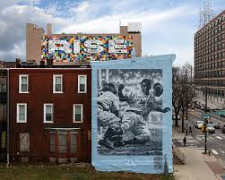 revisiting the baseball murals mural arts philadelphia mural revisiting the baseball murals