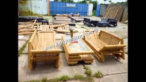Sofa Bamboo Furniture Bamboo Sofa Bamboo Living Room Youtube