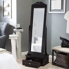 Jewelry Box Mirror Stand Belham Living Removable Decorative Top Cheval Mirror Espresso