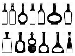 wine silhouette vodka clipart wine bottle pencil and in color vodka clipart wine