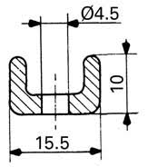 joint de chambre froide raidisseur pour joint porte isotherme de chambre froide n 3352