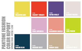 pantone color report pantone spring 2018 color forecast lrb associates