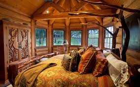 Rustic Homes Bedroom In Mountain Home Playuna