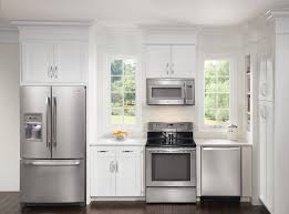 Best Kitchen Interiors White Kitchen Decor With Silver Refigerator Co 28 Green Way Parc
