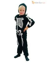 kids halloween costume age 2 3 childrens skeleton costume boys girls toddler kids