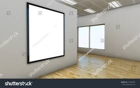 White Laminate Flooring 3d Render Empty Room Laminate Flooring Stock Illustration