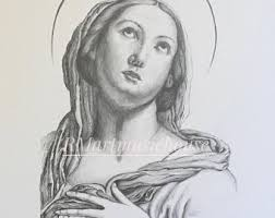100 handmade mary and jesus pencil drawing portrait of