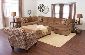 Square Ottoman Coffee Table Living Room Front Room Furnishings With Brown Sofa And Square