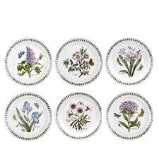 Portmeirion The Botanic Garden by Portmeirion Botanic Garden Set Of 6 Salad Plates Assorted Motifs