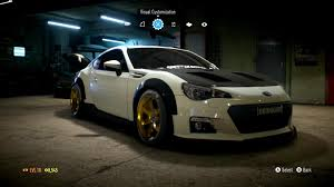 subaru brz custom paint review need for speed ar12gaming