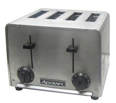 Toaster Box Adcraft Ct 04 4 Slot Stainless Steel Commercial Toaster Sub