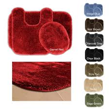 somette posh plush washable 3 piece bath rug set free shipping